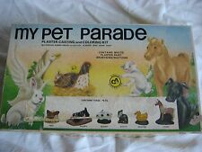 Vintage Bersted's Hobby Craft My Pet Parade Casting Coloring Kit No. 5040
