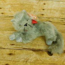 TY Beanie Babies Beani Cat 2001 Retired Gray