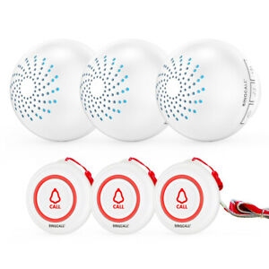 SINGCALL Wireless Home Attention Calling System Caregiver Pagers and Receivers