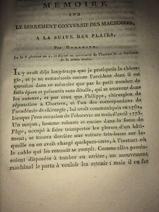MÉMOIRE SUR LE SERREMENT CONVULSIF DES MÂCHOIRES À LA SUITE DES PLAIES .1796.