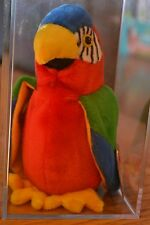 TY beanie babies jabber the parrot rare tag error (NIB) **display box included