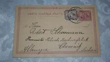 1903 EGYPT POSTAL CARD ALEXANDRIA EGYPT UPRATED