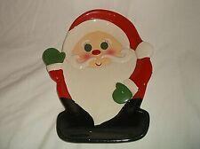 "Vintage Lefton SANTA CLAUS Plate Tray 10 1/4"" x 8 1/4"" Christmas"