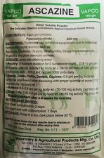 Piperazine Citrate 360 mg Bag 100g dewormer chickens ducks birds poultry wormer