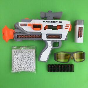 Max Force Maximizer 60 Toy Gun Jakks Pacific 2011 Soft Splat Paper Ammo Clip Gla