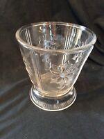 Clear Glass Pressed Glass Vase Vintage Footed Spooner Flowers