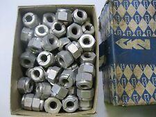 """1 - Pkt (25) 1/2"""" BSW Steel Aerotight STIFF Lock Nuts. GKN Made in Britain."""