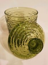 """4.75"""" Green Glass Jar With Lid"""