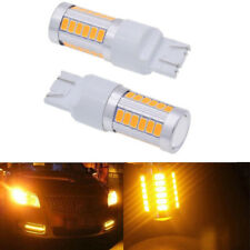 2x T20 7443 7440 5630 33SMD LED Dome Map Car Backup Reverse Light Bulb Yellow