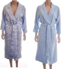 Ladies Blue Satin Fleece Reversible Bath Robe Dressing Gown Size S 8 10 12 (A68)