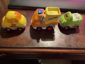 vtech go go smart wheels lot 3 Car Dump Truck Convertible