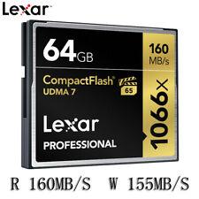 Lexar Professional 64GB Compact Flash 160MB/s CF Memory Card 1066x UDMA7 VPG-65