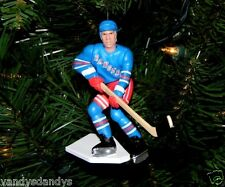 brian LEETCH new york RANGERS hockey NHL xmas TREE ornament HOLIDAY blue JERSEY
