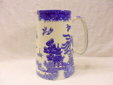 Vintage Blue Willow design 4 pint pitcher jug by Heron Cross Pottery