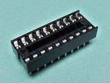 """10x IC SOCKET Stamped and Formed TIN plated Contacts DIL Socket 20 Way 0.3"""""""