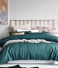 Mercer + Reid Linden Green Double Bed Quilt Cover + 2 Std P/case BNIB - RRP $279