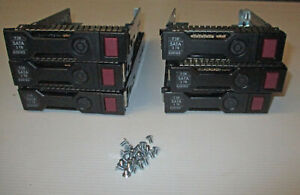 "Lot of 6 x HP 3.5"" Drive Caddy / Tray G8 G9 651314-001 DL380 DL380e SAS SATA"