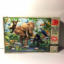 Howard Robinson Junior Jungle - Super 3D Puzzle 500 Pieces 24x18 in (61x46 cm)
