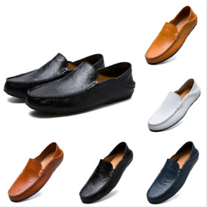 UK5-10 Men Driving Casual Boat Shoes PU Leather Shoes Moccasin Slip On Loafer