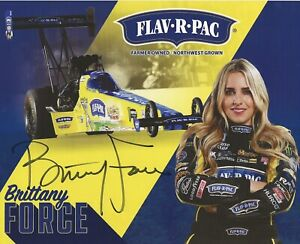 Brittany Force Signed 8.5 X 11 photo Autograph Force Racing RP