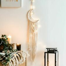 Moon Bohemian Tassel Macrame Woven Wall Hanging Tapestry Home Decor Craft Gift