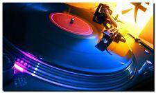 TECHNICS DECKS TURNTABLE 1200 QUALITY CANVAS ART PRINT- DJ ART A4