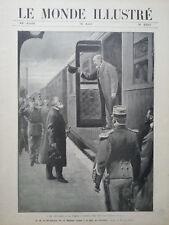 LE MONDE ILLUSTRE 1905 N 2507 S.M. LE ROI EDOUARD VII et M. LOUBET A PIERREFITTE