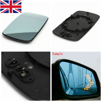 Right Hand Driver Side Blue Heated Wing Door Mirror Glass For BMW 3     .-