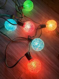 6 Vintage GE Lighted Ice Christmas Light BULBS ONLY Tested