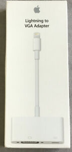 Apple Lightning Cable to VGA Connector Adapter MD825ZM/A Genuine  Boxed