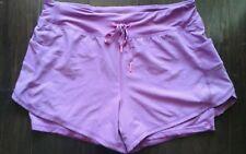 Tangerine  Ladies  Size  L  Sports  Shorts , Purple Cranberry. Two fer. EUC