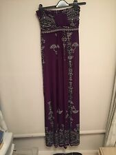 Ladies Maxi Patterned Dress Size Small
