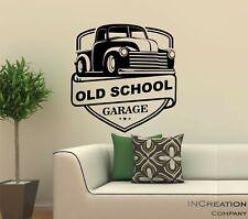 Old School Garage Wall Decal Vinyl Sticker Man cave mural graphics kid room gift