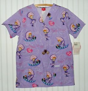 Cherokee I love Lucy Scrub Top Chocolate Factory Size Small