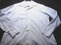 Tommy Bahama Blue White Long Sleeve Button 16 34/35 Men's Dress Shirt