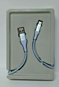 heyday 4' USB-C to USB-A Braided Cable - Whimsical Blue