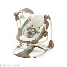 Bright Starts Comfort & Harmony Ingenuity ConvertMe 2-Seat Swing Sahara Burst GU