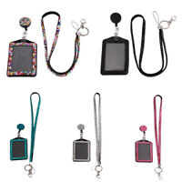 Rhinestone Neck Bling Lanyard Retractable ID Badge Reel Phone Key Holder  high