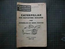 Caterpillar 633 Scraper Operation Maintenance Manual