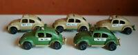 Mexican vintage plastic PLASTICOS IMPALA SA 5 Military VW Vocho Beetle lot RARE