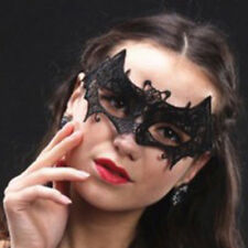 Women Black Lace Bat Mask Costume Hallween Dance Party Fancy Dress Accessries