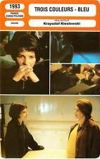 FICHE CINEMA x3 : TROIS COULEURS BLEU / BLANC / ROUGE - Binoche,Delpy,Jacob 1993