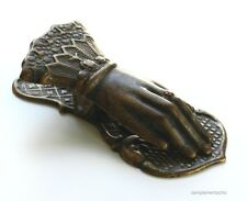 Fermacarte Mano da scrivania in ottone antichizzato