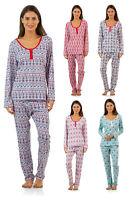 BHPJ Bedhead Women's 2 Piece Pajama Set Soft Knit Henley Shirt and Pants