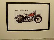 1939 Harley Davidson EL  Motorcycle Exhibit Celebration artist Illustrated