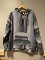 Molina Oaxaca Vintage Striped Blanket Hoodie Jacket One Size Southwest Hippie