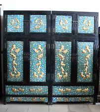 Old Rosewood inlaid cloisonne  enamel cabinet