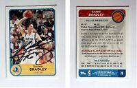 Shawn Bradley Signed 2003-04 Bazooka #76 Card Dallas Mavericks Auto Autograph