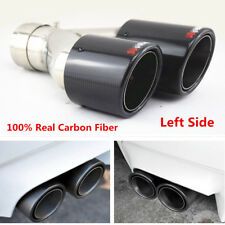 63mm Inlet Universal Glossy Carbon Fiber Car Exhaust Dual Pipe Tail Muffler Tip