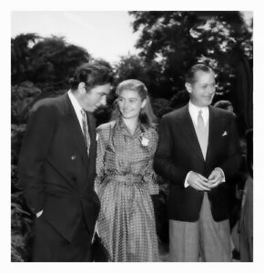 ROBERT MONTGOMERY ROBERT NEWTON WITH FRENCH ACTRESS ANOUK AIMEE CANDID